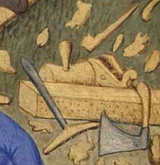 bedford_book_of_hours_plane_mallet_auger_axe
